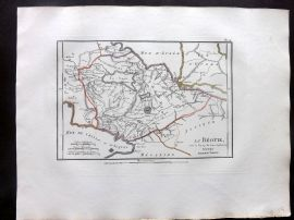 Barthelemy 1824 Antique Map. La Beotie. Greece